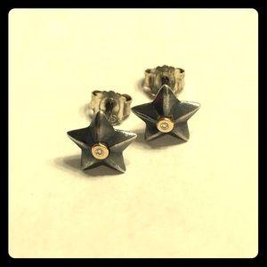 "Pandora ""Stella"" star stud earrings"